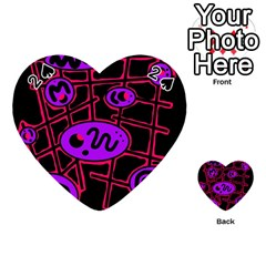 Purple and red abstraction Playing Cards 54 (Heart)