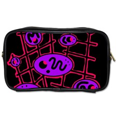 Purple and red abstraction Toiletries Bags