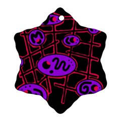 Purple and red abstraction Snowflake Ornament (2-Side)