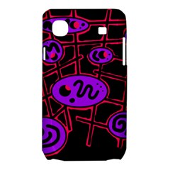 Purple and red abstraction Samsung Galaxy SL i9003 Hardshell Case