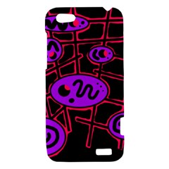 Purple and red abstraction HTC One V Hardshell Case