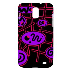 Purple and red abstraction Samsung Galaxy S II Skyrocket Hardshell Case