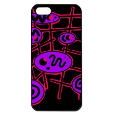 Purple and red abstraction Apple iPhone 5 Seamless Case (Black)