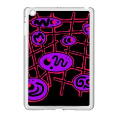 Purple and red abstraction Apple iPad Mini Case (White)