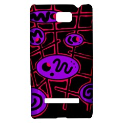 Purple and red abstraction HTC 8S Hardshell Case