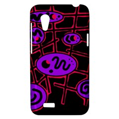 Purple and red abstraction HTC Desire VT (T328T) Hardshell Case