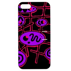 Purple and red abstraction Apple iPhone 5 Hardshell Case with Stand