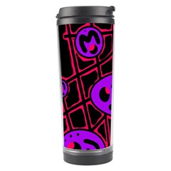 Purple and red abstraction Travel Tumbler