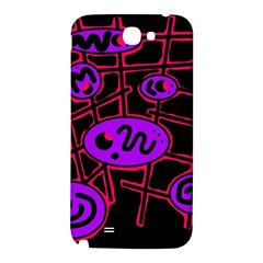Purple and red abstraction Samsung Note 2 N7100 Hardshell Back Case