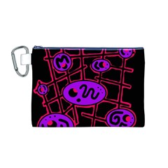 Purple and red abstraction Canvas Cosmetic Bag (M)