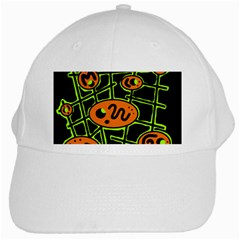 Orange and green abstraction White Cap