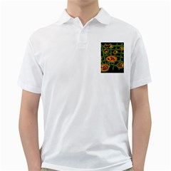 Orange and green abstraction Golf Shirts
