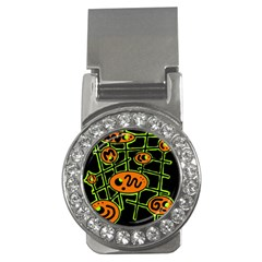 Orange and green abstraction Money Clips (CZ)