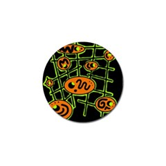 Orange and green abstraction Golf Ball Marker (10 pack)