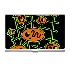 Orange and green abstraction Business Card Holders