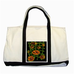 Orange and green abstraction Two Tone Tote Bag