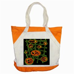Orange and green abstraction Accent Tote Bag
