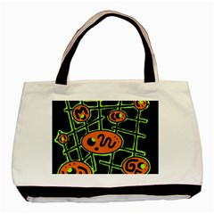 Orange and green abstraction Basic Tote Bag (Two Sides)