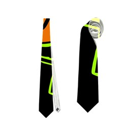 Orange and green abstraction Neckties (One Side)
