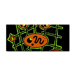 Orange and green abstraction Hand Towel