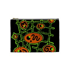 Orange and green abstraction Cosmetic Bag (Medium)