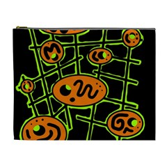 Orange and green abstraction Cosmetic Bag (XL)