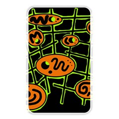 Orange and green abstraction Memory Card Reader