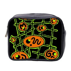 Orange and green abstraction Mini Toiletries Bag 2-Side