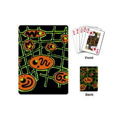Orange and green abstraction Playing Cards (Mini)