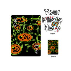 Orange and green abstraction Playing Cards 54 (Mini)