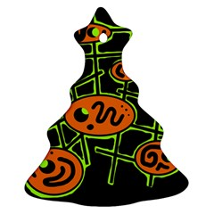 Orange and green abstraction Christmas Tree Ornament (2 Sides)