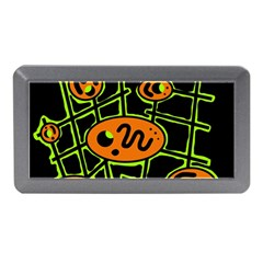 Orange and green abstraction Memory Card Reader (Mini)