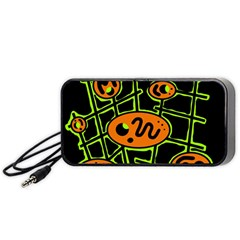 Orange and green abstraction Portable Speaker (Black)