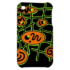 Orange and green abstraction Apple iPhone 3G/3GS Hardshell Case