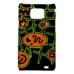 Orange and green abstraction Samsung Galaxy S2 i9100 Hardshell Case