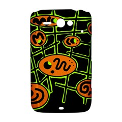 Orange and green abstraction HTC ChaCha / HTC Status Hardshell Case