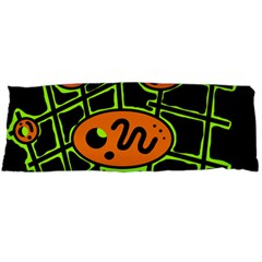 Orange and green abstraction Body Pillow Case Dakimakura (Two Sides)