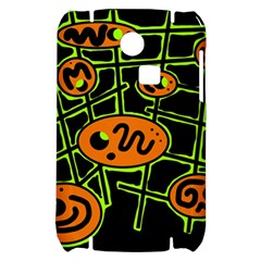 Orange and green abstraction Samsung S3350 Hardshell Case