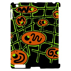 Orange and green abstraction Apple iPad 2 Hardshell Case (Compatible with Smart Cover)