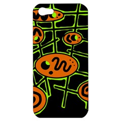 Orange and green abstraction Apple iPhone 5 Hardshell Case