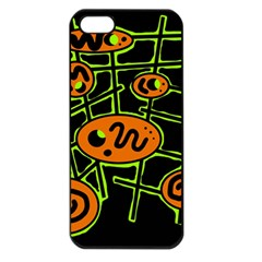 Orange and green abstraction Apple iPhone 5 Seamless Case (Black)