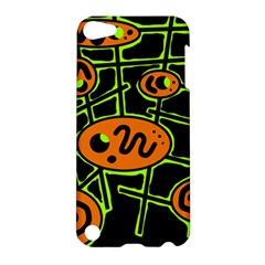 Orange and green abstraction Apple iPod Touch 5 Hardshell Case