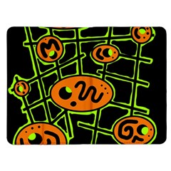 Orange and green abstraction Kindle Fire (1st Gen) Flip Case
