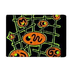 Orange and green abstraction Apple iPad Mini Flip Case