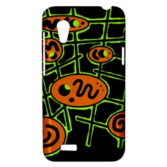 Orange and green abstraction HTC Desire VT (T328T) Hardshell Case