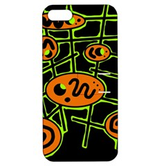 Orange and green abstraction Apple iPhone 5 Hardshell Case with Stand