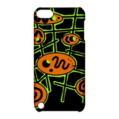 Orange and green abstraction Apple iPod Touch 5 Hardshell Case with Stand