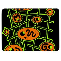 Orange and green abstraction Samsung Galaxy Tab 7  P1000 Flip Case