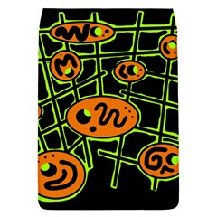 Orange and green abstraction Flap Covers (L)