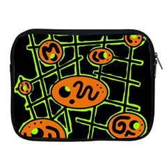 Orange and green abstraction Apple iPad 2/3/4 Zipper Cases